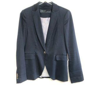Zara Dark Blue One Button Blazer